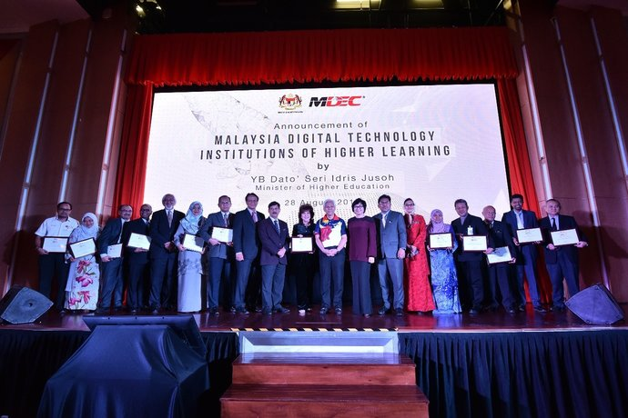 The Launch of Premier Digital Tech IHLs on 28th August 2017 by YB Dato' Seri Idris Jusoh, Minister of Higher Education in Putrajaya.